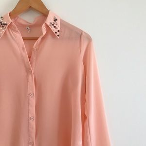 Vintage Sheer Button Down